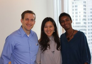 Matt Martin, Jeehee Sung, Sarah Dillard 2012-2013 Doctoral Fellows and Administrative Coordinator